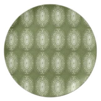 Estrella verde plato de cena