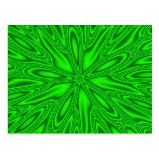 Estrella verde postal