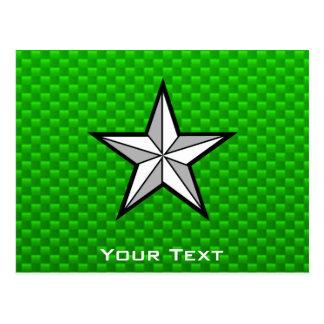 Estrella verde tarjetas postales