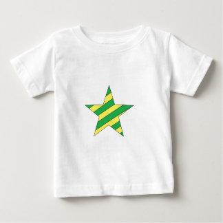 estrella verde y amarilla polera