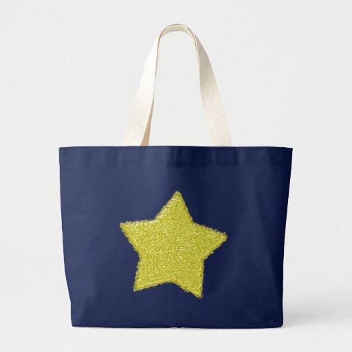 Estrella vidrio star amarillo glass yellow bolsa tela grande