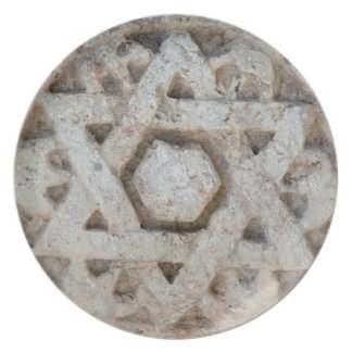 Estrella vieja de David que talla, Israel Platos Para Fiestas