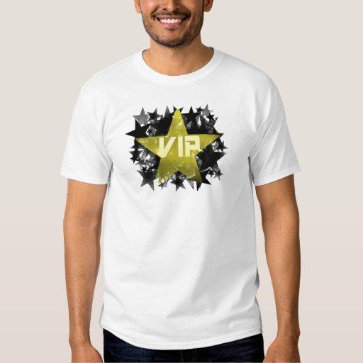 Estrella VIP del oro Remeras