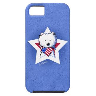 Estrella Westie manchado de KiniArt iPhone 5 Carcasa