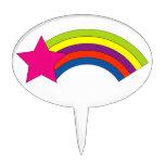 Estrella y arco iris palillos de tarta