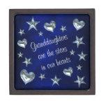 Estrella y corazón de la nieta cajas de recuerdo de calidad
