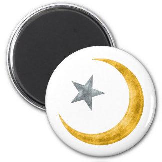 Estrella y creciente imán