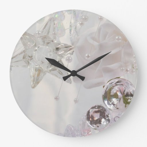 """""""Estrella y cristales blancos """" Reloj"""