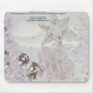 """""""Estrella y cristales blancos """" Alfombrilla De Ratones"""