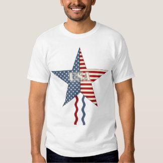 Estrella y flámulas de los E.E.U.U. Camisas