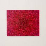 Estrella y mandala rojas de Sun Puzzles