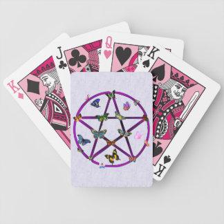 Estrella y mariposas de Wiccan Baraja Cartas De Poker