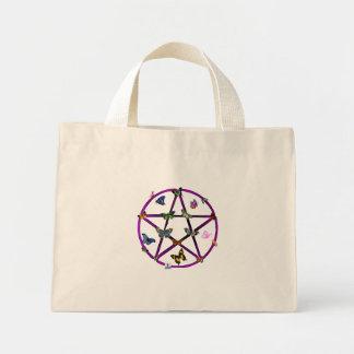 Estrella y mariposas de Wiccan Bolsa Tela Pequeña