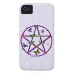 Estrella y mariposas de Wiccan Case-Mate iPhone 4 Cárcasas