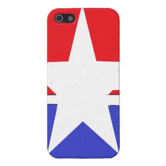 Estrella y raya iPhone 5 funda