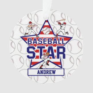 Estrella y rayas de béisbol personalizadas