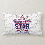 Estrella y rayas de béisbol personalizadas almohadas