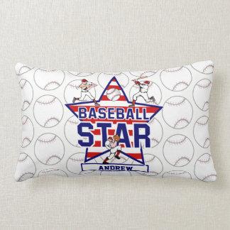 Estrella y rayas de béisbol personalizadas cojín
