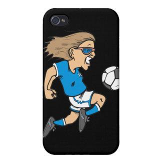 Estrella y regalos femeninos de fútbol del dibujo  iPhone 4/4S carcasa