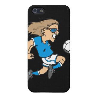 Estrella y regalos femeninos de fútbol del dibujo  iPhone 5 funda