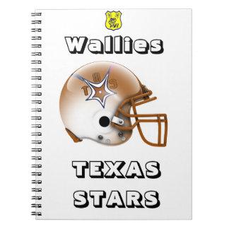 Estrellas 2015 de Wallies Tejas Spiral Notebook