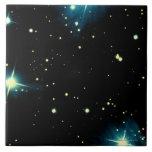 Estrellas 2 azulejo cuadrado grande