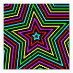 Estrellas 2 del arco iris invitación 13,3 cm x 13,3cm