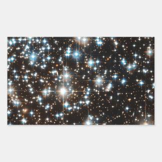 """Estrellas 2"" Pegatina Rectangular"