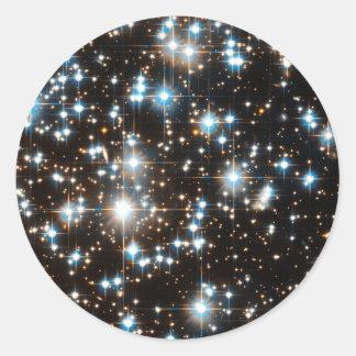 """Estrellas 2"" Pegatina Redonda"