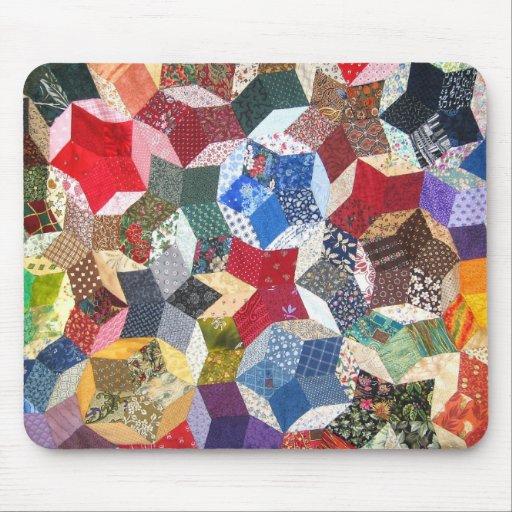 Estrellas acolchadas tapete de ratones