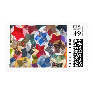 Estrellas acolchadas timbre postal