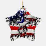 Estrellas americanas adorno de navidad