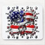 Estrellas americanas alfombrillas de ratones