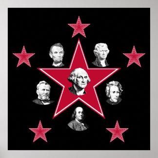 Estrellas americanas de la historia posters