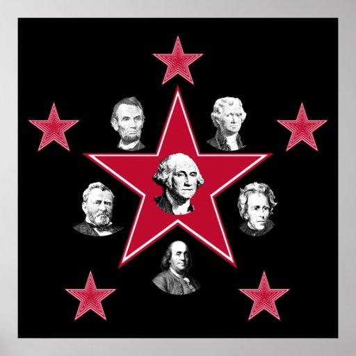Estrellas americanas de la historia póster