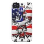 Estrellas americanas iPhone 4 fundas