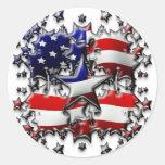 Estrellas americanas pegatinas redondas