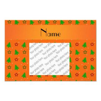 Estrellas anaranjadas conocidas personalizadas del fotografias