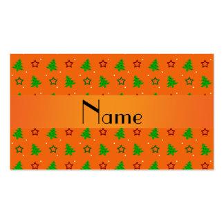 Estrellas anaranjadas conocidas personalizadas del tarjeta de visita