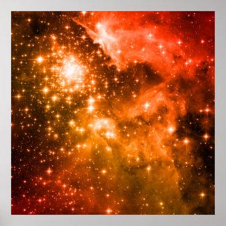 Estrellas anaranjadas poster