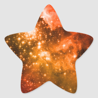 Estrellas anaranjadas calcomanías forma de estrellas personalizadas