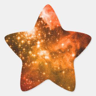 Estrellas anaranjadas pegatina en forma de estrella