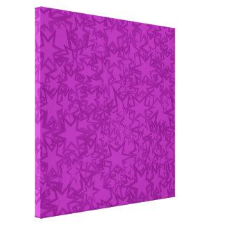 Estrellas artsy de la púrpura impresion de lienzo