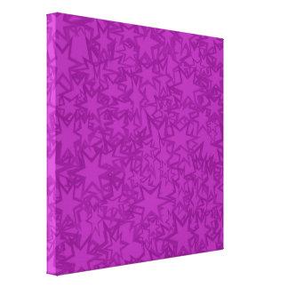 Estrellas artsy de la púrpura impresión en lona estirada