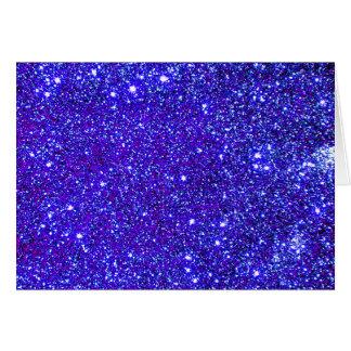 Estrellas azul marino del cielo nocturno del unive tarjeta