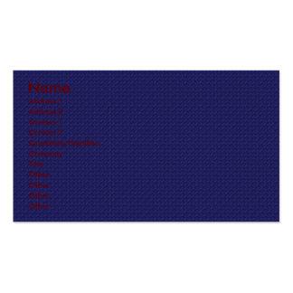 Estrellas azules atractivas del centelleo en azul  tarjetas de negocios
