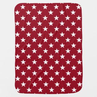 Estrellas azules blancas rojas de los días mantas de bebé