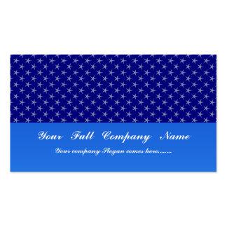 Estrellas azules claras atractivas en superficie a plantillas de tarjetas personales
