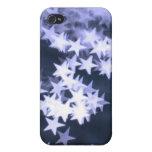 Estrellas azules claras iPhone 4 carcasas