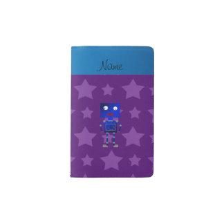 Estrellas azules conocidas personalizadas de la funda para libreta y libreta pequeña moleskine